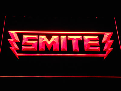 Smite LED Neon Sign - Red - SafeSpecial