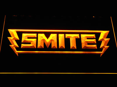 Smite LED Neon Sign - Yellow - SafeSpecial