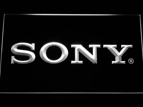 Sony LED Neon Sign - White - SafeSpecial