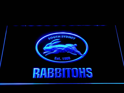South Sydney Rabbitohs LED Neon Sign - Blue - SafeSpecial