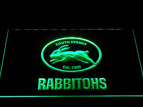 Image of South Sydney Rabbitohs LED Neon Sign - Green - SafeSpecial