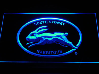 South Sydney Rabbitohs LED Neon Sign - Legacy Edition - Blue - SafeSpecial