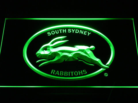 Image of South Sydney Rabbitohs LED Neon Sign - Legacy Edition - Green - SafeSpecial