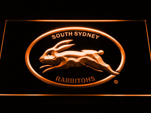Image of South Sydney Rabbitohs LED Neon Sign - Legacy Edition - Orange - SafeSpecial