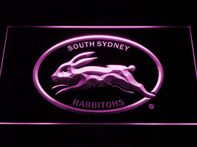 South Sydney Rabbitohs LED Neon Sign - Legacy Edition - Purple - SafeSpecial