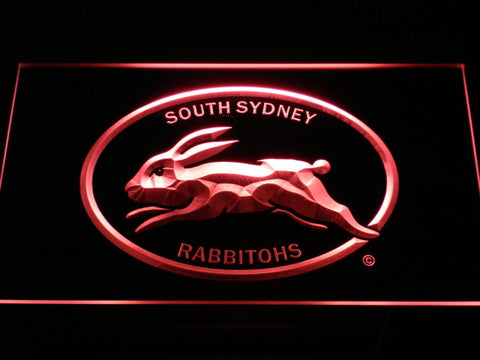 Image of South Sydney Rabbitohs LED Neon Sign - Legacy Edition - Red - SafeSpecial