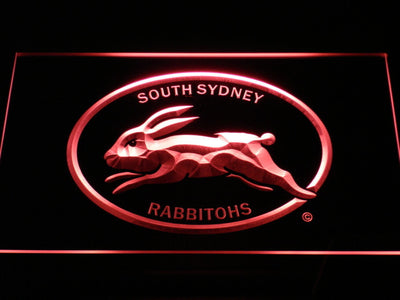 South Sydney Rabbitohs LED Neon Sign - Legacy Edition - Red - SafeSpecial