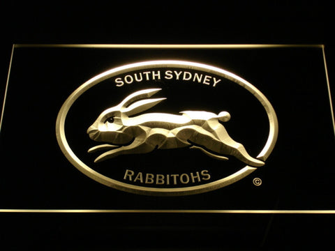 Image of South Sydney Rabbitohs LED Neon Sign - Legacy Edition - Yellow - SafeSpecial