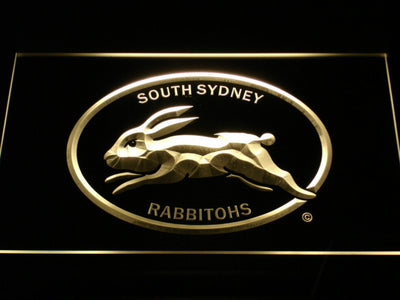 South Sydney Rabbitohs LED Neon Sign - Legacy Edition - Yellow - SafeSpecial