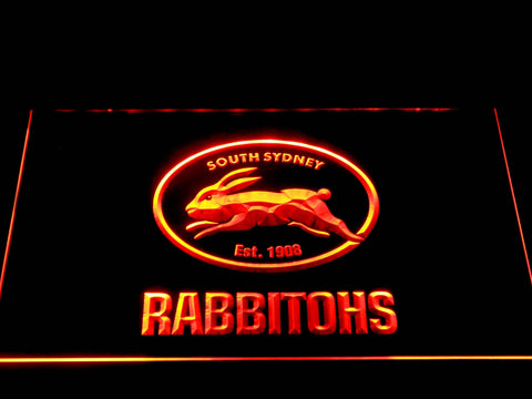 Image of South Sydney Rabbitohs LED Neon Sign - Orange - SafeSpecial