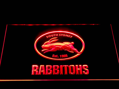 Image of South Sydney Rabbitohs LED Neon Sign - Red - SafeSpecial