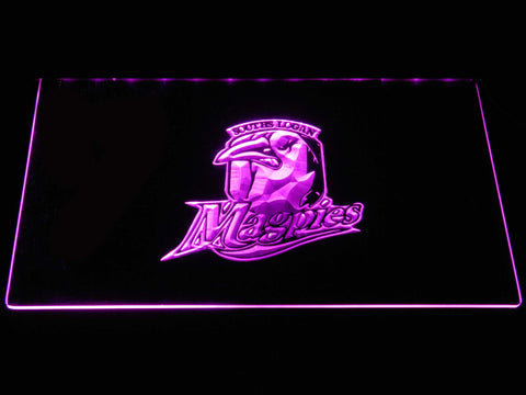 Souths Logan Magpies LED Neon Sign - Purple - SafeSpecial