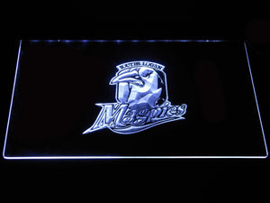 Souths Logan Magpies LED Neon Sign - White - SafeSpecial