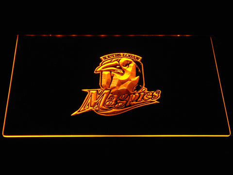 Souths Logan Magpies LED Neon Sign - Yellow - SafeSpecial