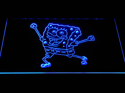 Spongebob Squarepants Ready for Adventure LED Neon Sign - Blue - SafeSpecial