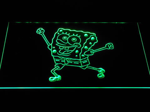 Image of Spongebob Squarepants Ready for Adventure LED Neon Sign - Green - SafeSpecial