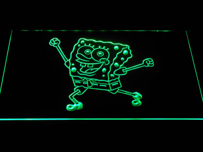 Spongebob Squarepants Ready for Adventure LED Neon Sign - Green - SafeSpecial