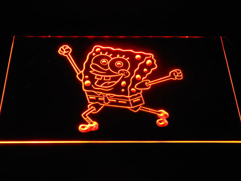 Image of Spongebob Squarepants Ready for Adventure LED Neon Sign - Orange - SafeSpecial