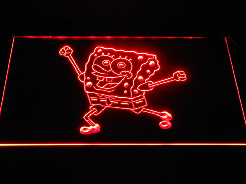 Image of Spongebob Squarepants Ready for Adventure LED Neon Sign - Red - SafeSpecial