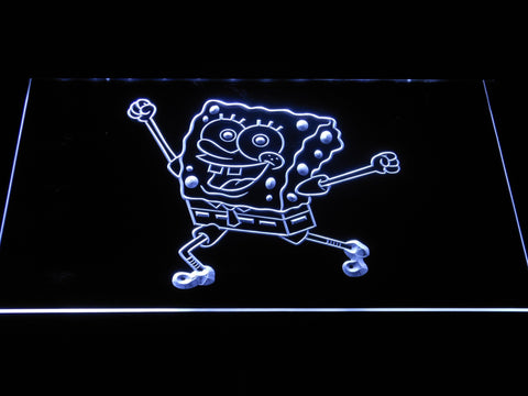 Image of Spongebob Squarepants Ready for Adventure LED Neon Sign - White - SafeSpecial