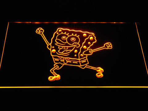 Image of Spongebob Squarepants Ready for Adventure LED Neon Sign - Yellow - SafeSpecial
