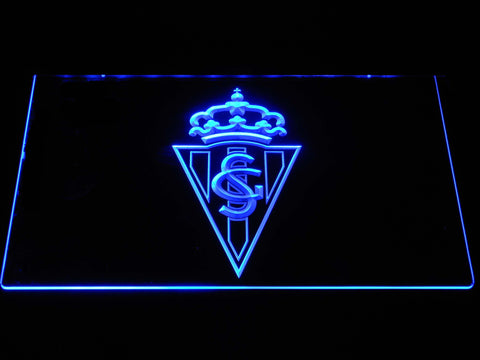 Image of Sporting de Gijon LED Neon Sign - Blue - SafeSpecial