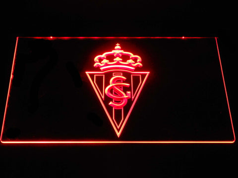 Image of Sporting de Gijon LED Neon Sign - Red - SafeSpecial