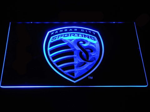 Sporting Kansas City LED Neon Sign - Blue - SafeSpecial