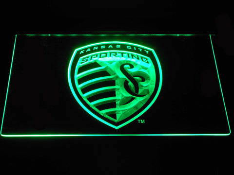 Sporting Kansas City LED Neon Sign - Green - SafeSpecial