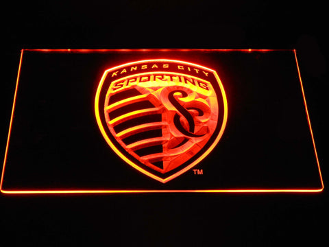 Image of Sporting Kansas City LED Neon Sign - Orange - SafeSpecial