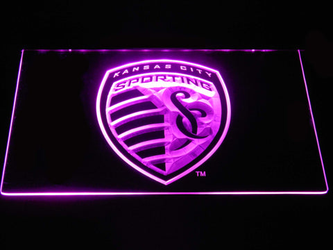 Sporting Kansas City LED Neon Sign - Purple - SafeSpecial