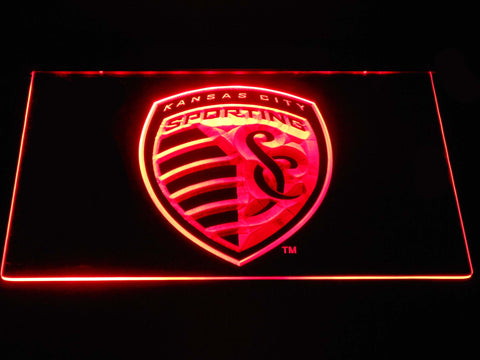 Sporting Kansas City LED Neon Sign - Red - SafeSpecial