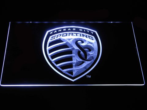 Sporting Kansas City LED Neon Sign - White - SafeSpecial