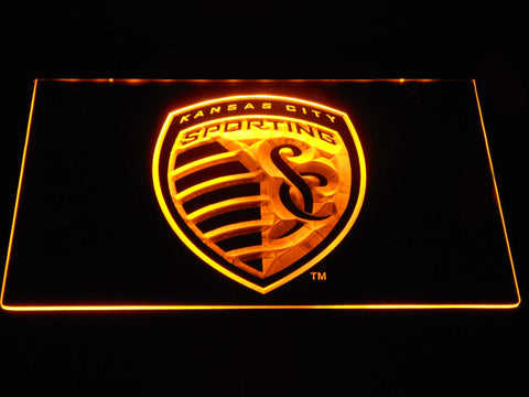 Sporting Kansas City LED Neon Sign - Yellow - SafeSpecial
