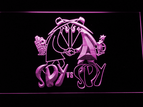 Image of Spy VS Spy LED Neon Sign - Purple - SafeSpecial