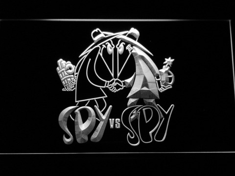 Image of Spy VS Spy LED Neon Sign - White - SafeSpecial
