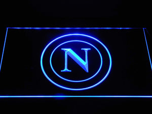 S.S.C. Napoli LED Neon Sign - Blue - SafeSpecial