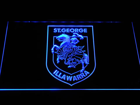 St. George Illawarra Dragons LED Neon Sign - Blue - SafeSpecial