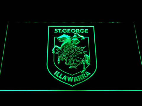 St. George Illawarra Dragons LED Neon Sign - Green - SafeSpecial