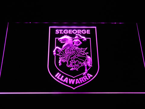 St. George Illawarra Dragons LED Neon Sign - Purple - SafeSpecial