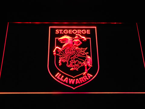 St. George Illawarra Dragons LED Neon Sign - Red - SafeSpecial