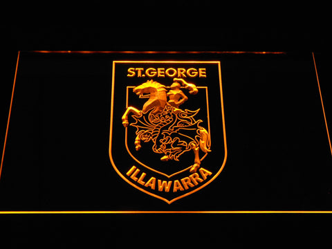 St. George Illawarra Dragons LED Neon Sign - Yellow - SafeSpecial