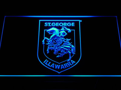St. George Illawarra Dragons Type 2 LED Neon Sign - Blue - SafeSpecial