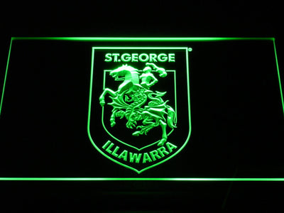 St. George Illawarra Dragons Type 2 LED Neon Sign - Green - SafeSpecial