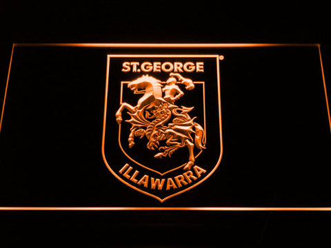 Image of St. George Illawarra Dragons Type 2 LED Neon Sign - Orange - SafeSpecial