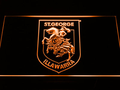 St. George Illawarra Dragons Type 2 LED Neon Sign - Orange - SafeSpecial