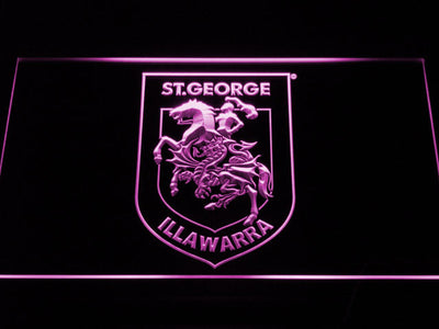 St. George Illawarra Dragons Type 2 LED Neon Sign - Purple - SafeSpecial
