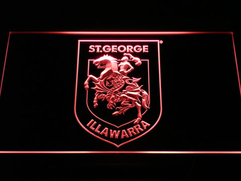 Image of St. George Illawarra Dragons Type 2 LED Neon Sign - Red - SafeSpecial