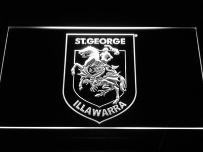 St. George Illawarra Dragons Type 2 LED Neon Sign - White - SafeSpecial