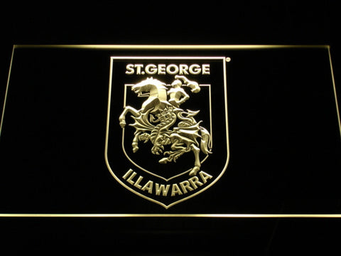 Image of St. George Illawarra Dragons Type 2 LED Neon Sign - Yellow - SafeSpecial